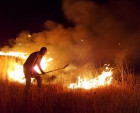 Yangına TOMA'lı müdahale!