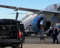 Melania Trump'ın uçağı zorunlu iniş yaptı