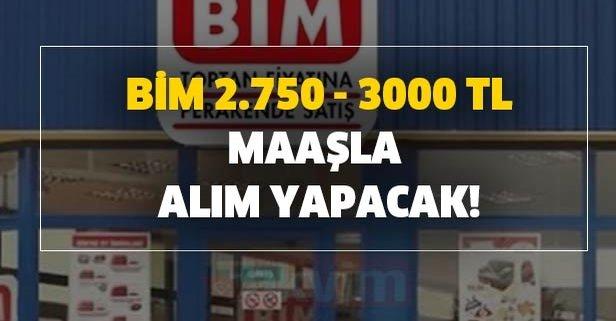 2020 BİM 2.750 - 3000 TL maaşla alım yapacak!