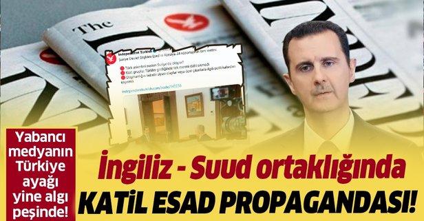 Independent Türkçe'de Esad propagandası!