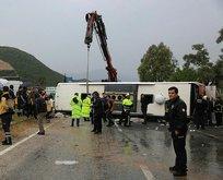 Muğla'da feci kaza! Yolcu otobüsü devrildi