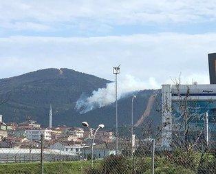 Aydos Ormanı'nda korkutan yangın