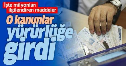 Son dakika haberi: Torba Yasa Resmi Gazete'de yayımlandı! Milyonlarca kişiyi ilgilendiriyor