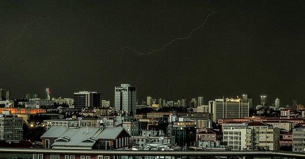 Ankara'da kötü hava şartları...