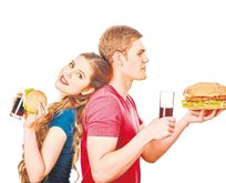 Hamburger-şeker karaciğer biter