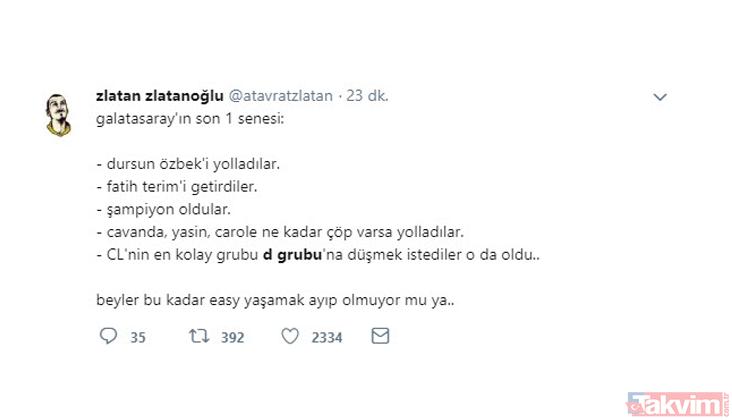 Sosyal medyada Galatasarayın düştüğü D Grubu yorumları