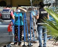Uyuşturucu almaya gelenler karantinada mahsur kaldı