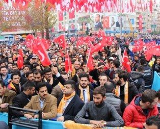 Denizli'de Başkan Erdoğan coşkusu