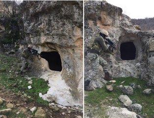 Diyarbakır'da PKK'lı teröristlerin barındığı yerler imha edildi