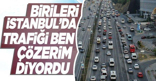 İstanbul'da trafik çilesi bitmek bilmiyor!