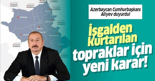 Azerbaycan, işgalinden kurtarılan bölgelerde geçici özel idareler kurulacak!
