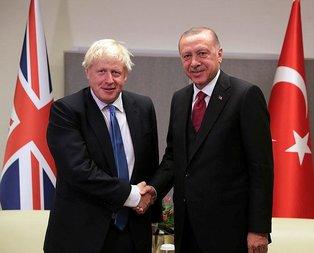 Başkan Erdoğan, Johnson ile görüştü