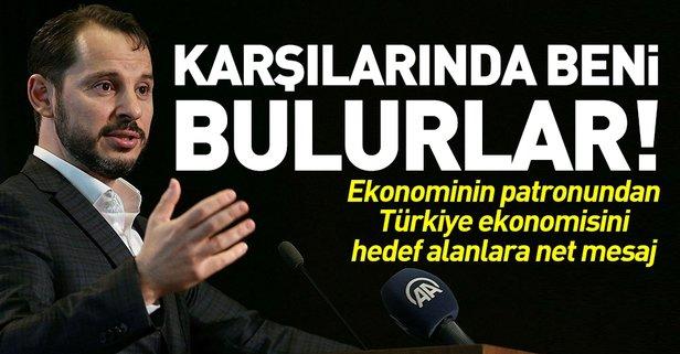 Bakan Albayraktan Türkiye ekonomisine zarar vermeye çalışanlara net mesaj