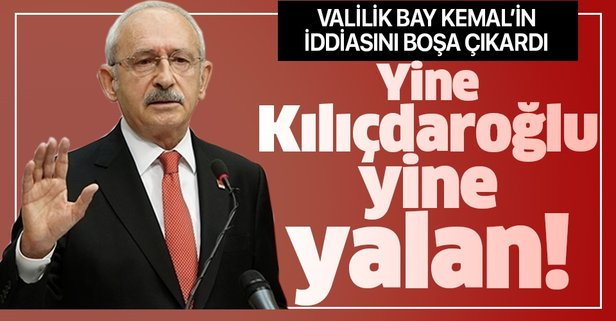 Burdur Valiliğinden Kılıçdaroğlu'na yalanlama!