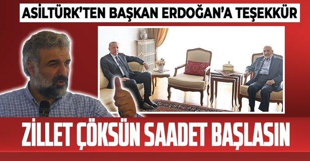 Saadet Partisi'nden Başkan Erdoğan'a teşekkür