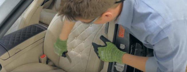 Mercedes koltuğunu kesip biçtiler! İçinden çıkanlar hayrete düşürdü... Mercedes-Benz S-Class serisi
