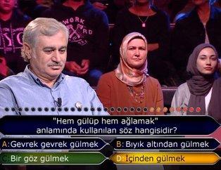 Kim Milyoner Olmak İster 783. son bölümde seyircilerin bile bilemediği soru!