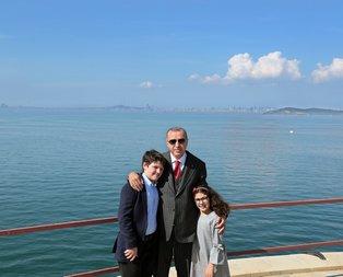 Başkan torunları ile birlikte Yassıada'da