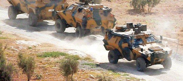 Türk keşif gücü sınırı geçti