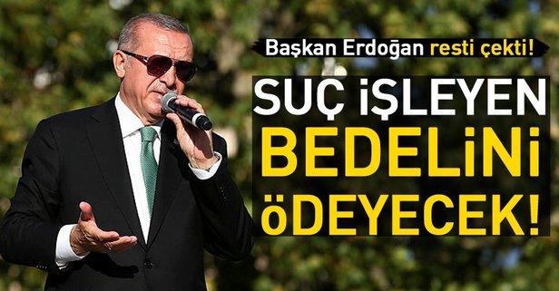 Başkan Erdoğan'dan ABD'ye bir rest daha