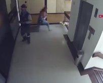 Annenin bebeğini kurtarma anı kamerada