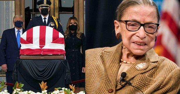 Trump'tan, Yargıç Ginsburg'un cenazesine ziyaret