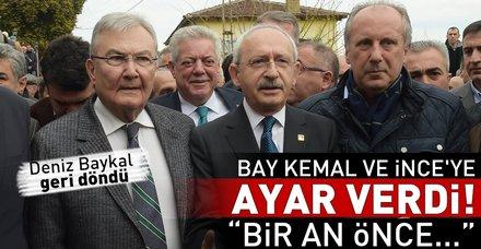 Deniz Baykal, İnce ve Kılıçdaroğlu'nu uyardı: İç hesaplaşmayı bitirin