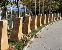 Şehitler Parkında büyük saygısızlık!