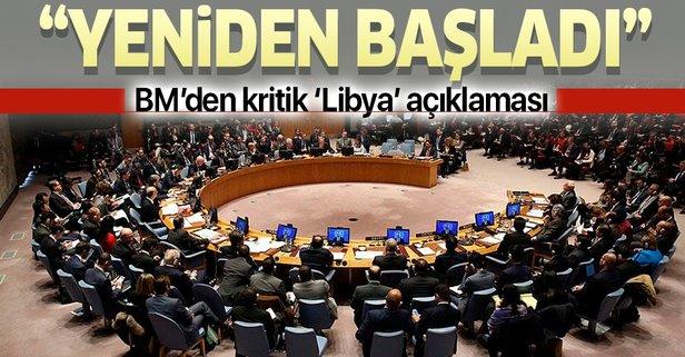 BM'den kritik 'Libya' açıklaması