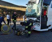 Otobüs ile TIR çarpıştı! 17 yaralı!