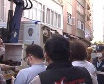 İstanbul'da 6 katlı bir binada çökme tehlikesi
