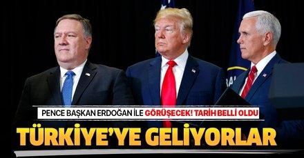 Beyaz Saray açıkladı: Mike Pence Perşembe günü Başkan Erdoğan ile görüşecek