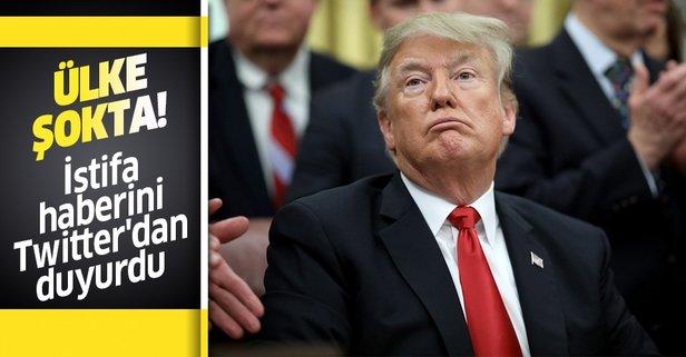 Trump istifa haberini Twitter'dan duyurdu!