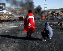İsraile Türk bayrağıyla tepki gösterdi sembol oldu
