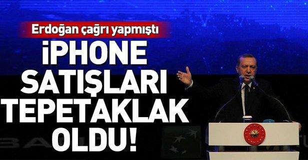 Erdoğan'ın çağrısı sonrası iPhone satışlarında rekor düşüş