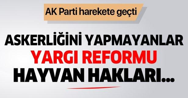 AK Parti'den flaş yasa teklifi: Askerliğini yapmayanlar...