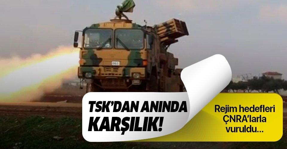TSK'dan anında karşılık! Esad rejim hedefleri böyle vuruldu