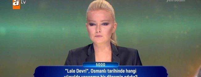 Müge Anlı'nın sunduğu Güven Bana'nın 11. bölümüne damga vuran Osmanlı sorusu! Lale Devri, Osmanlı tarihinde hangi yüzyılda yaşanmış bir dönem adıdır?