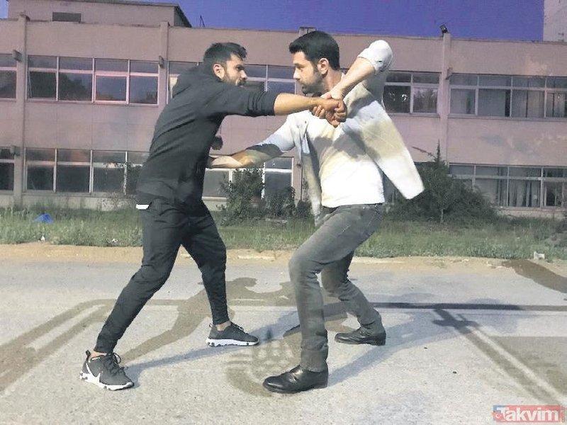 Kimse Bilmez'in 'Ali'si Keremcem set arasında bile eğitimlere devam ediyor! Hız ve aksiyon sahneleri...