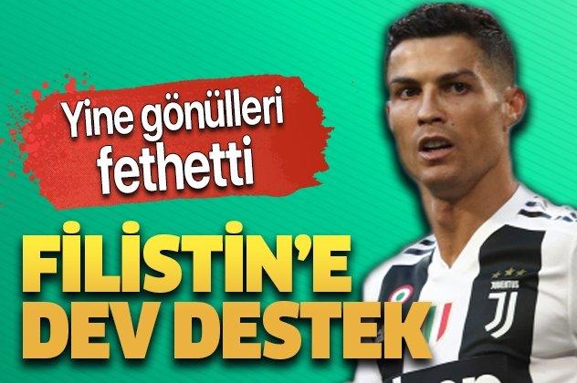 Ronaldo Filistin'i unutmadı! Tam 1,5 milyon euro...