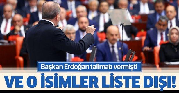 AK Parti'de o isimler liste dışı!