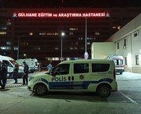 Hastane bahçesinde polise saldırı!