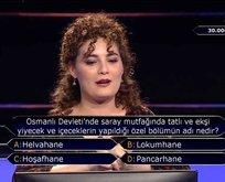 Milyoner'de dikkat çeken 'Osmanlı' sorusu