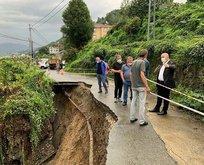 Rize'de şiddetli yağış ve heyelan