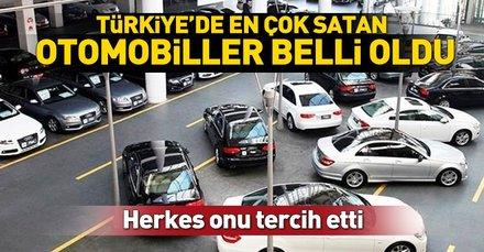 Türkiye'de en çok satılan otomobil markaları belli oldu (En çok satılan araba markaları)