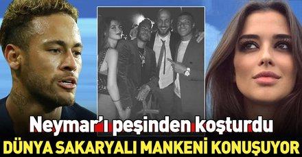 Türk model Elif Aksu, Neymar'ın partisinde...