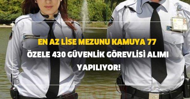 En az lise mezunu kamuya 77 - özele 430 güvenlik görevlisi alımı yapılıyor