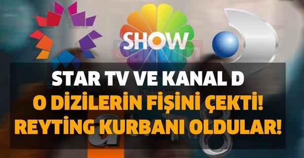 Star TV ve Kanal D o dizilerin fişini çekti! Reyting kurbanı oldular!