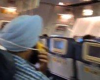 Yolcuların bir anda burnu kanadı!