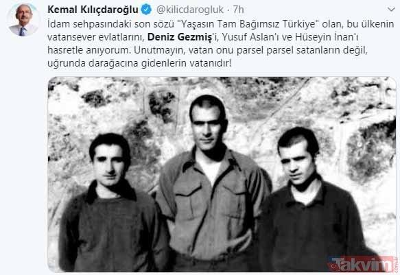 CHP'liler Deniz Gezmiş'i önce astı sonra andı! İşte Deniz Gezmiş ve arkadaşlarının idamına onay verenler